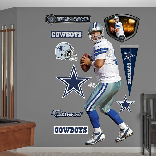 Fathead Dallas Cowboys Tony Romo Home Real Big Wall Decal
