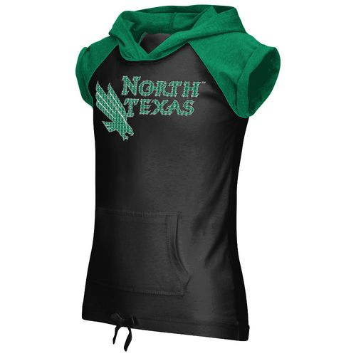 Colosseum Athletics Girls' University of North Texas Jewel Short Sleeve Hoodie