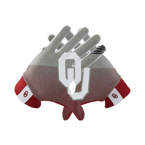 Nike Adults' University of Oklahoma Stadium Football Gloves