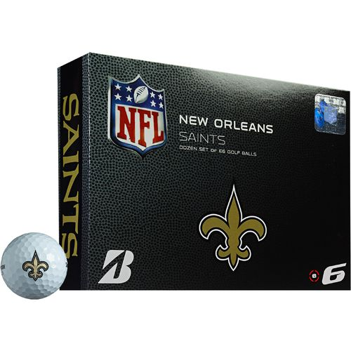 Bridgestone Golf New Orleans Saints e6 Golf Balls 12-Pack