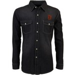 Antigua Men's San Francisco Giants Long Sleeve Button Down Chambray Shirt