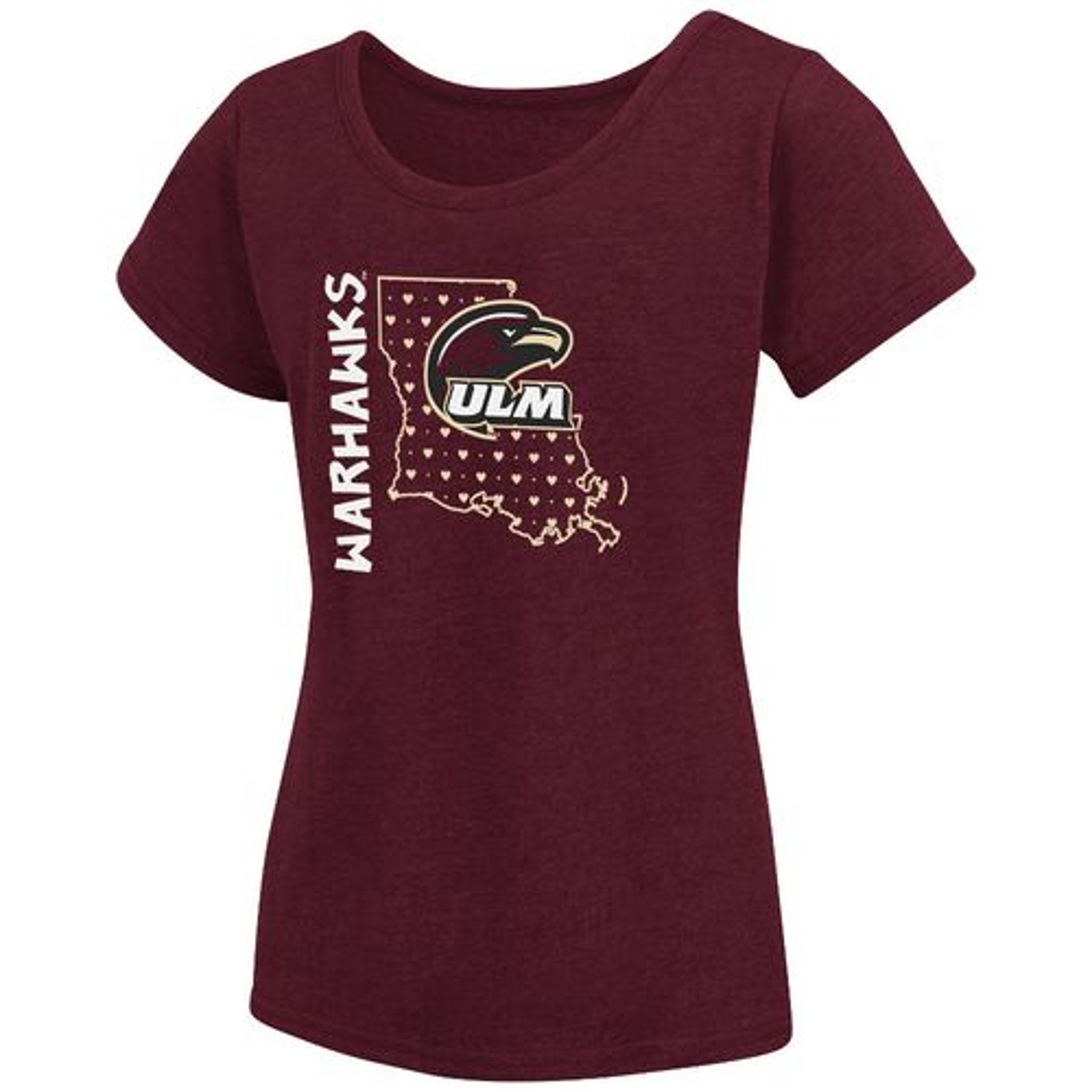 Colosseum Athletics Girls' University of Louisiana at Monroe T-shirt