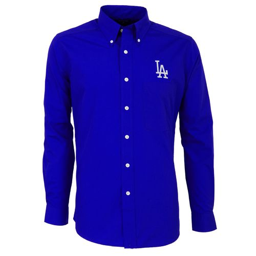 Antigua Men's Los Angeles Dodgers Dynasty Long Sleeve Button Down Shirt
