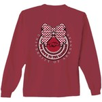 New World Graphics Women's University of Arkansas Ribbon Bow Long Sleeve T-shirt