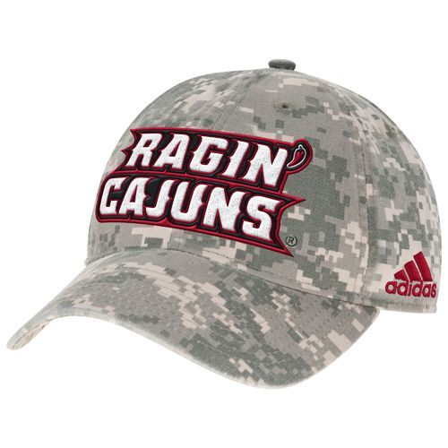 adidas™ Men's University of Louisiana at Lafayette Digital Camo Adjustable Slouch Cap