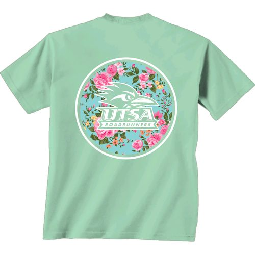 New World Graphics Women's University of Texas at San Antonio Floral T-shirt