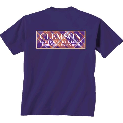 New World Graphics Women's Clemson University Madras T-shirt