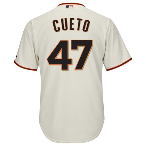 Majestic Men's San Francisco Giants Johnny Cueto #47 Cool Base Replica Jersey