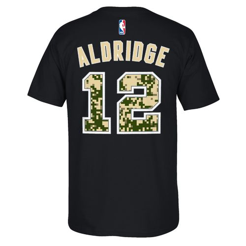 adidas™ Men's San Antonio Spurs LaMarcus Aldridge #12 U-Series T-shirt