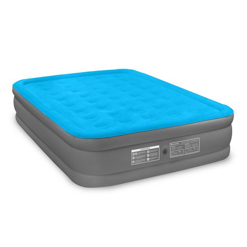 Air Comfort Camp Mate Raised Queen-Size Air Mattress with Battery-Powered Pump