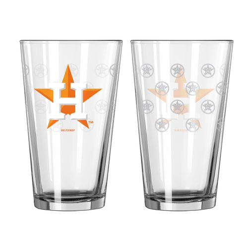 Boelter Brands Houston Astros Game Day 16 oz. Pint Glasses 2-Pack