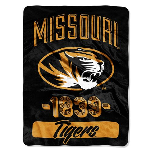 NCAA University of Missouri Varsity Micro Raschel Throw