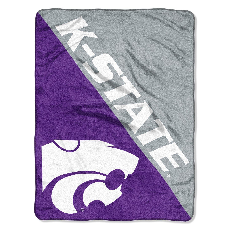 NCAA Kansas State University Halftone Micro Raschel Throw