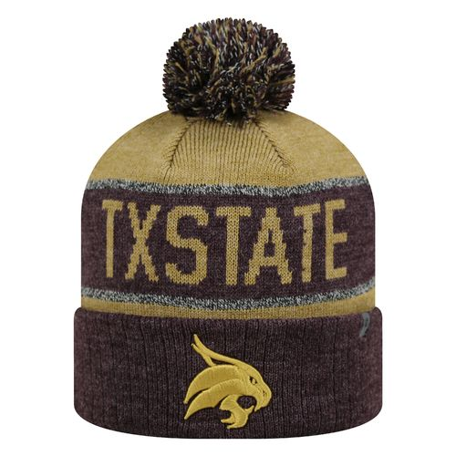 Top of the World Men's Texas State University Below Zero Cuffed Knit Cap