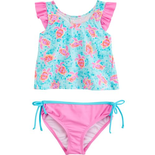 O'Rageous Kids Girls' Tortuga Bay 2-Piece Tankini Swimsuit