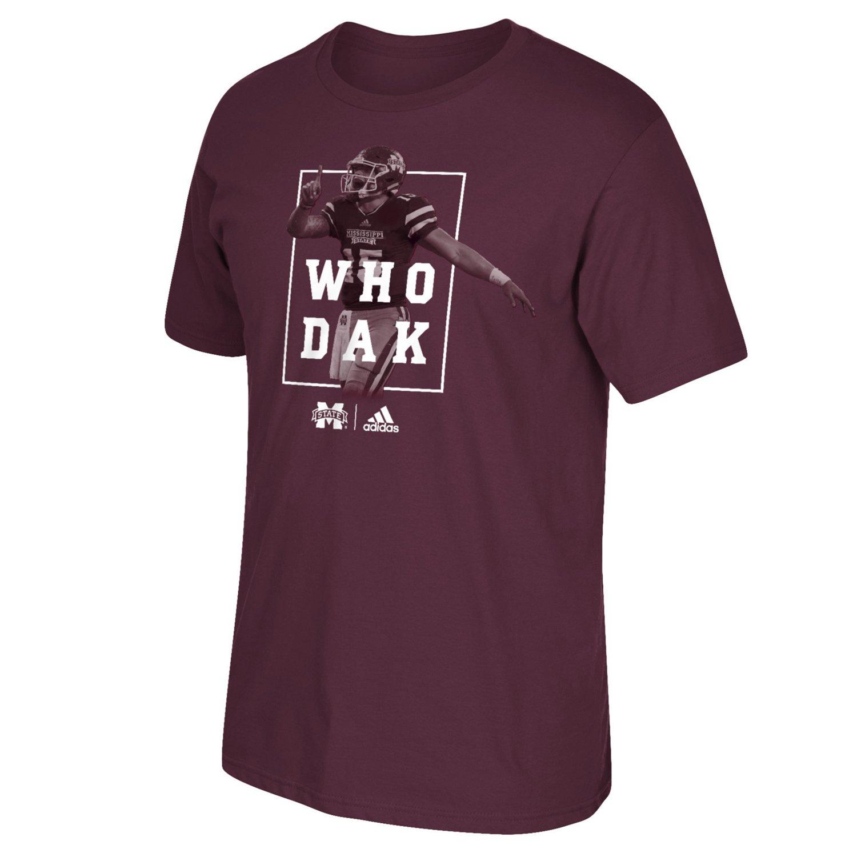 adidas Men's Mississippi State University Dak Prescott Today's Legend T-shirt for sale