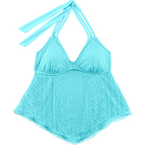 O'Rageous® Juniors' Crochet Flounce Tankini Swim Top