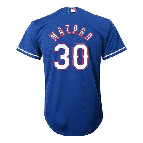 MLB Boys' Texas Rangers Nomar Mazara 30 Cool Base Jersey