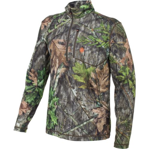 Game Winner Men's Fulton Camo 1/4 Zip Long Sleeve Shirt