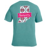 Image One Women's Indiana University Pattern Scroll State T-shirt - view number 1