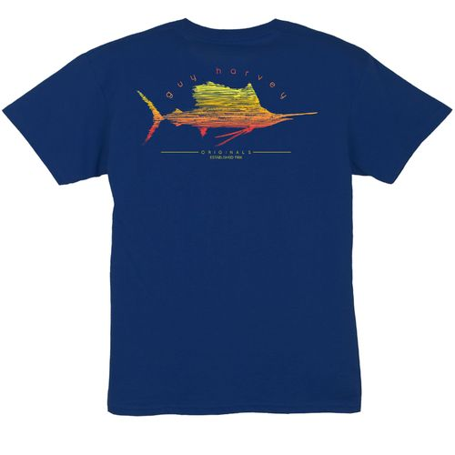 Guy Harvey Boys' Sailfish Scribble Short Sleeve T-shirt