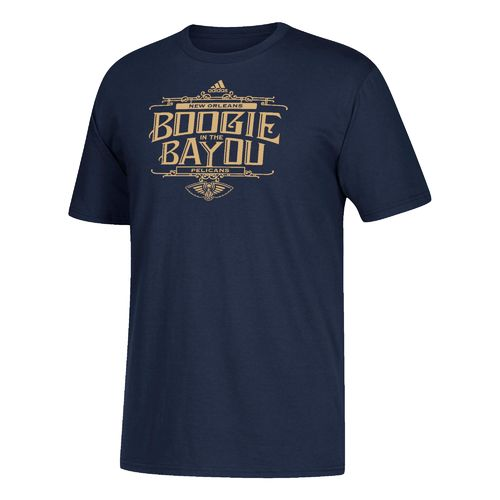 adidas Men's New Orleans Pelicans Boogie in the Bayou T-shirt