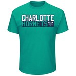 Majestic Men's Charlotte Hornets Kemba Walker 15 Vertical Name and Number T-shirt - view number 2
