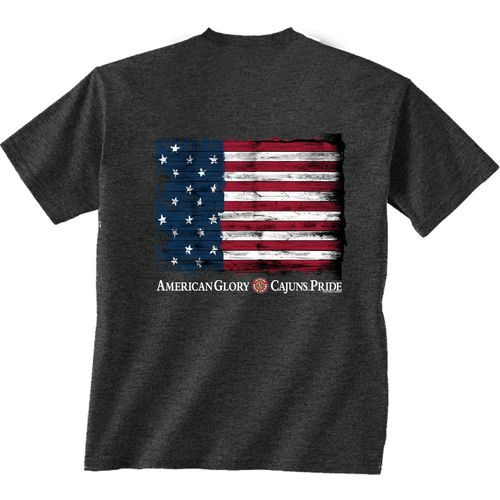 New World Graphics Men's University of Louisiana at Lafayette Flag Glory T-shirt