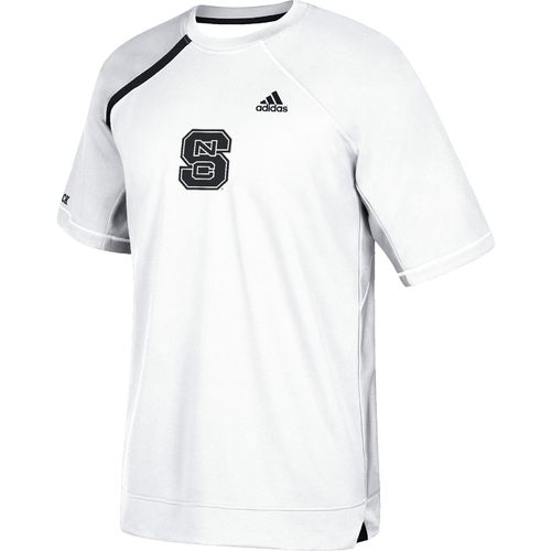 adidas Men's North Carolina State University Shooting Short Sleeve Basketball T-shirt