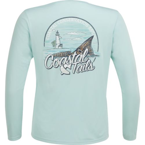 CCA Men's Performance Coastal Tails Long Sleeve T-shirt
