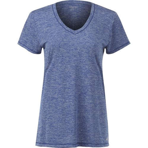 BCG Women's Short Sleeve V-neck Heather Tech T-shirt
