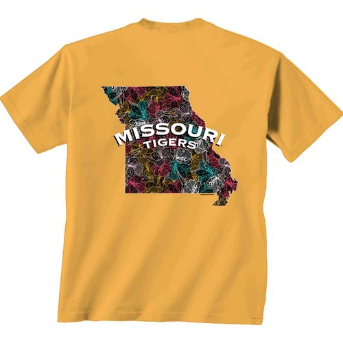 New World Graphics Women's University of Missouri Comfort Color Puff Arch T-shirt