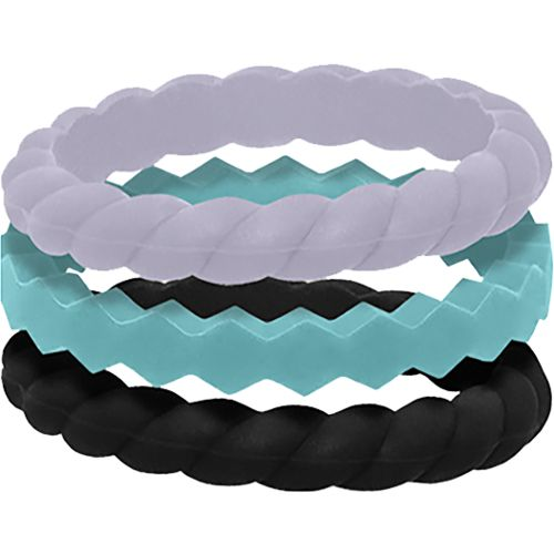 QALO Womens Stackable Silicone Wedding Ring Set Academy