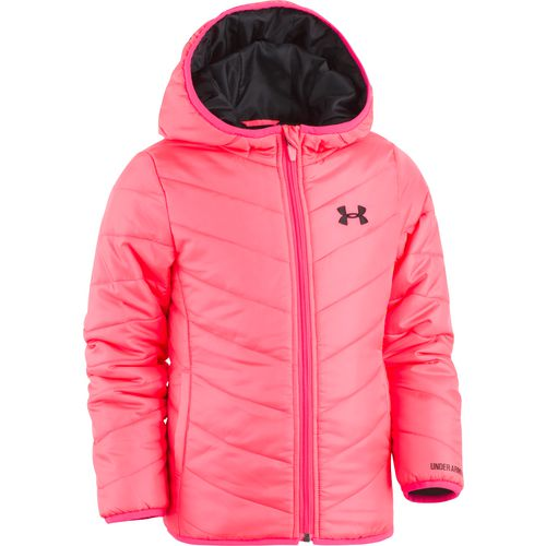 Under Armour Girls' Premier Puffer Hooded Jacket - view number 1