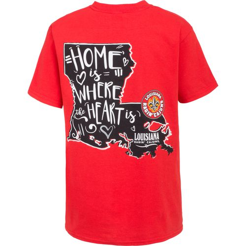 New World Graphics Girls' University of Louisiana at Lafayette Where the Heart Is Short Sleeve T