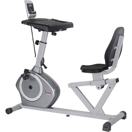 sunny health u0026 fitness recumbent desk exercise bike