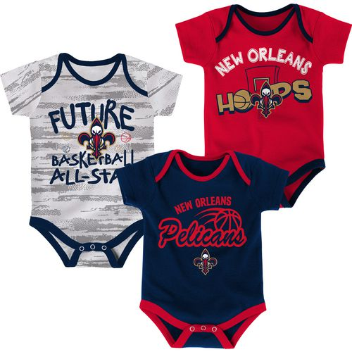 Cheap NBA Infants' New Orleans Pelicans 3-Piece Body Suit Set for cheap