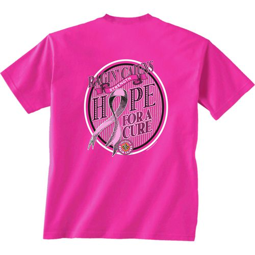 New World Graphics Women's University of Louisiana at Lafayette Breast Cancer Hope T-shirt