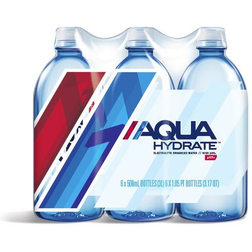 AQUAhydrate 500 ml Purified Water 6-Pack