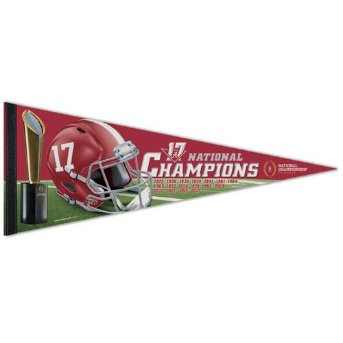 WinCraft University of Alabama 2017 CFP National Champs 12x30 Pennant