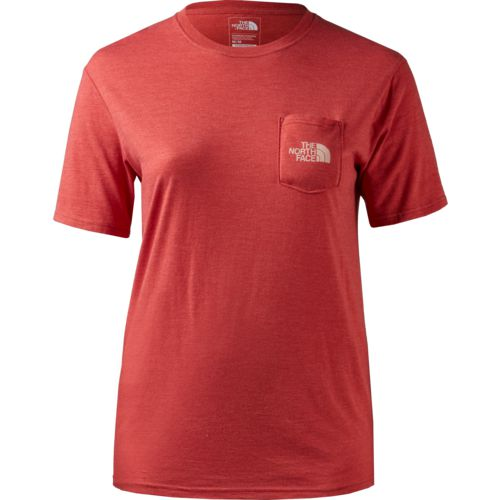 Display product reviews for The North Face Women's Short Sleeve Tri-Blend Pocket T-shirt