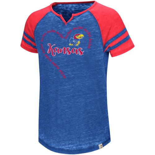 Colosseum Athletics Girls' University of Kansas The Babe Raglan T-shirt