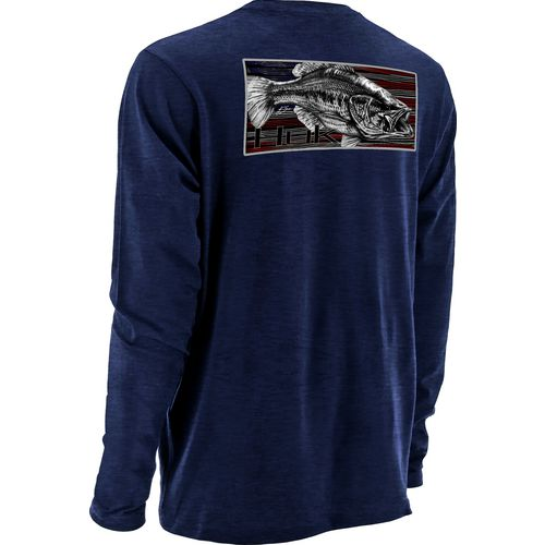 Huk Men's KC Scott Red White and Bass Long Sleeve T-shirt