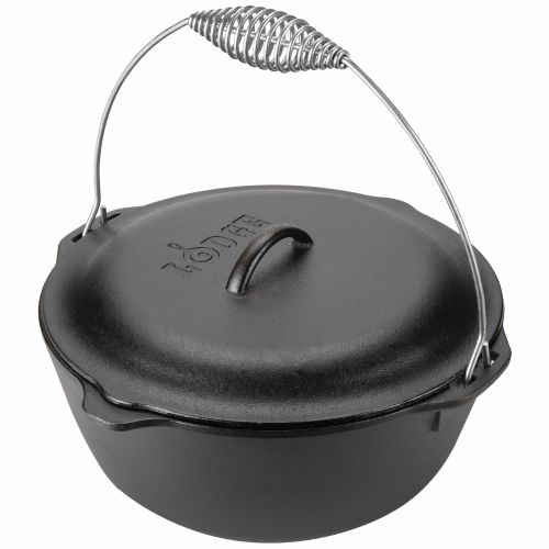 Display product reviews for Lodge 7 qt. Traditional Dutch Oven with Wire Bail
