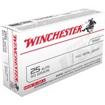 Winchester USA Full Metal Jacket .25 Automatic 50-Grain Handgun Ammunition