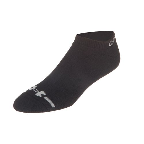 Under Armour Adults' Charged Cotton No Show Socks - view number 1