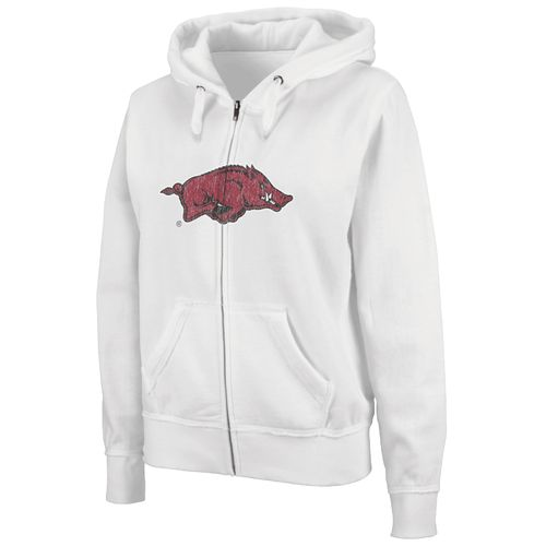 Colosseum Athletics Women's University of Arkansas Cozy Full Zip Fleece Hoodie