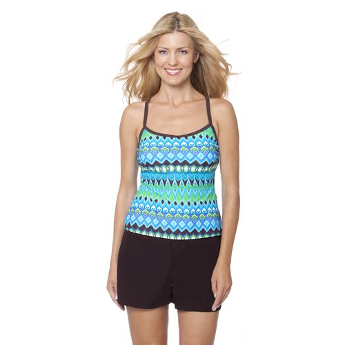 Magellan Outdoors™ Women's Jungle Effect X-back Tankini Swim Top