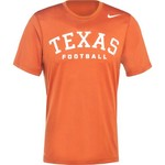 Nike Men's University of Texas Practice Legend Authentic Font T-shirt