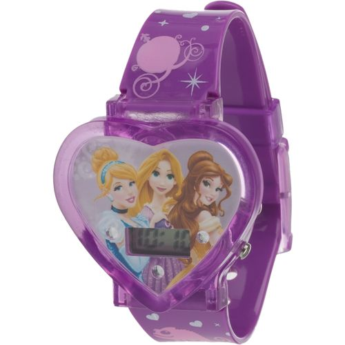Image for Disney Girls' Princesses Heart Case Watch from Academy